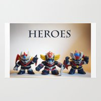 heroes Area & Throw Rugs featuring heroes by caporilli