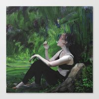 smoking Canvas Prints featuring Smoking by Christian Lonsdale