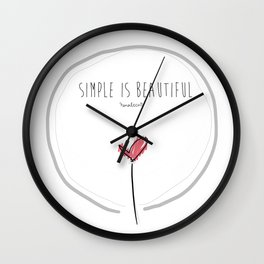 Simple is beautiful Wall Clock