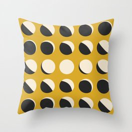 Moon Phased in Honey Throw Pillow