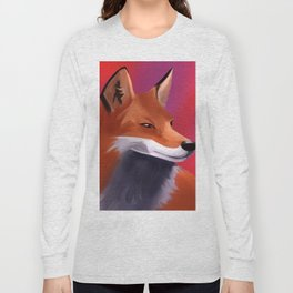 Fox Painting Long Sleeve T-shirt