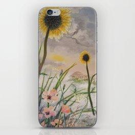 Waving Sunflowers iPhone Skin
