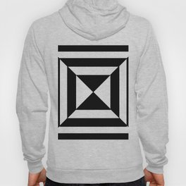 Striped Pyramid | Black and White Stripes | Abstract Hoody