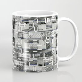 An Elite Club of Billions (P/D3 Glitch Collage Studies) Coffee Mug