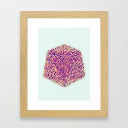 Platonic Displacement Framed Art Print
