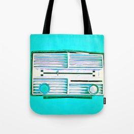 Old Radio Pop Art Tote Bag