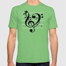 Love Music II LARGE Grass Mens Fitted Tee