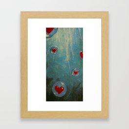Love Floats Framed Art Print