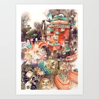 spirited away Art Prints featuring Spirited Away by Foya