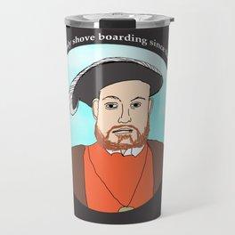King Henry VIII Plays Shuffle Travel Mug