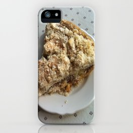 Amish apple pie iPhone Case