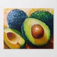 avocado Canvas Prints featuring Avocado  by Na Liu Cherry