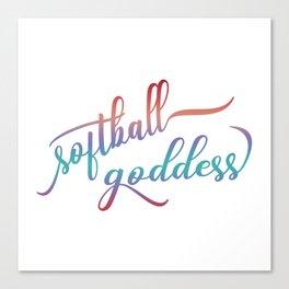 Softball Goddess Summer Ombre Canvas Print