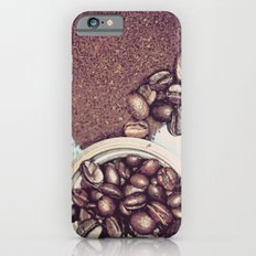 Coffee Beans and Coffee Ground iPhone 6s Slim Case