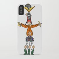 fandom iPhone & iPod Cases featuring The Fandom Totem Pole by Tricksterbelle Productions