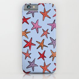 Starfishes in clear water iPhone Case