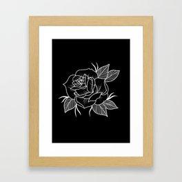 black rose Framed Art Print
