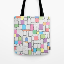 Pastel Stone Wall Tote Bag