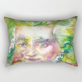 MAXIMILIEN ROBESPIERRE - watercolor portrait Rectangular Pillow