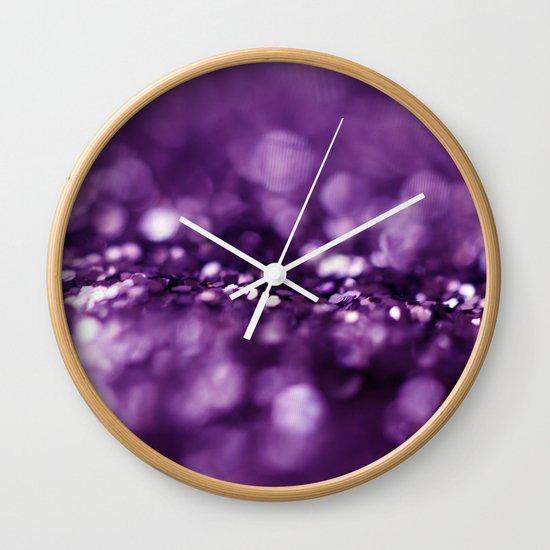Dreaming in Purple Wall Clock