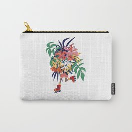 Floral Roller Babe Carry-All Pouch