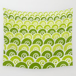 Green Beach Waves Wall Tapestry