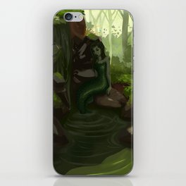 Water nymph by the waterfall iPhone Skin