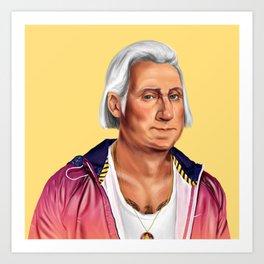 Hipstory -  George Washington Art Print