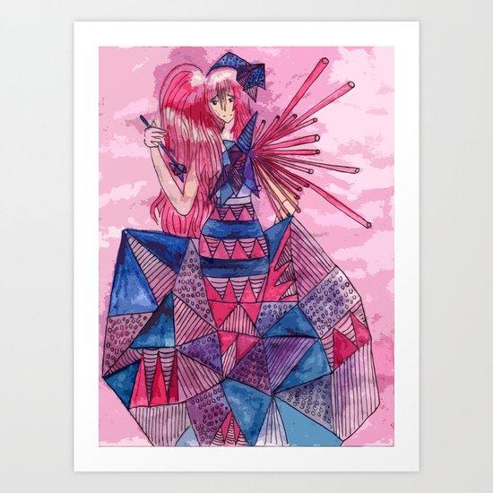 Queen of Sadness Art Print