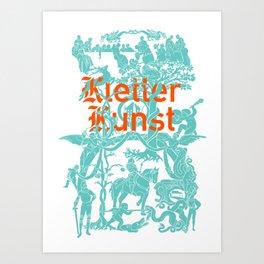 Kletter Kunst Art Print