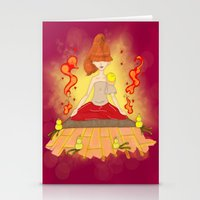 meditation Stationery Cards featuring Meditation by KeijKidz