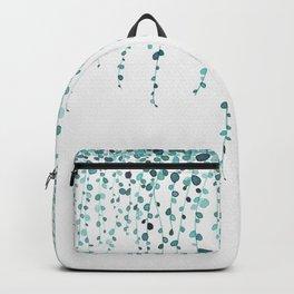 String of pearls in watercolor teal Backpack