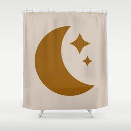 Moon & Stars - Desert Orange Shower Curtain