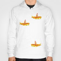 yellow submarine Hoodies featuring Fabric Yellow Submarine by AnnaCas