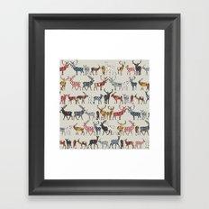 oatmeal spice deer Framed Art Print