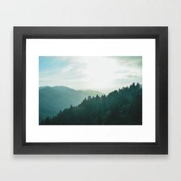 Green Forest, Slow down! Framed Art Print