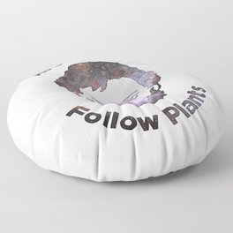 Terence Mckenna - Avoid Gurus, Follow Plants (Universe) Floor Pillow