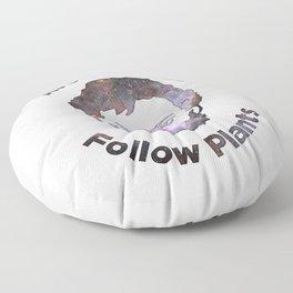 Terence Mckenna - Avoid Gurus, Follow Plants (Universe) Floor Pillow