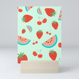 Fruit salad (Mint) Mini Art Print