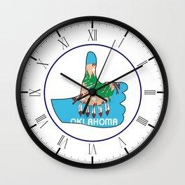 Thumbs Up Oklahoma Wall Clock