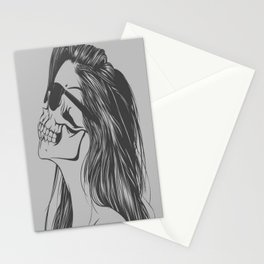 Hipster Skull Stationery Cards