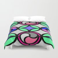 mosaic Duvet Covers featuring Mosaic by Elena Indolfi