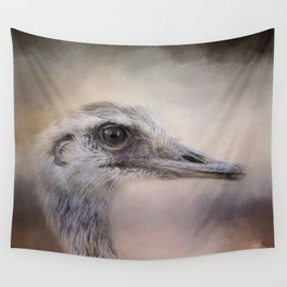 Poised - Ostrich - Wildlife  Wall Tapestry