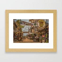 Street Of Montanita, Ecuador Framed Art Print