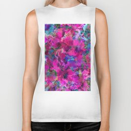 Pink Poppy Jungle Biker Tank