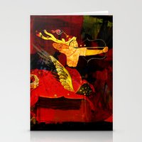 boxing Stationery Cards featuring Boxing Sagittarius by Genco Demirer