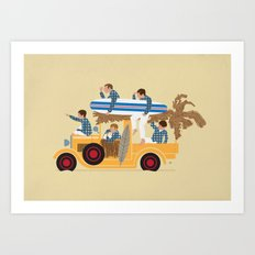 Surfin Safari Art Print