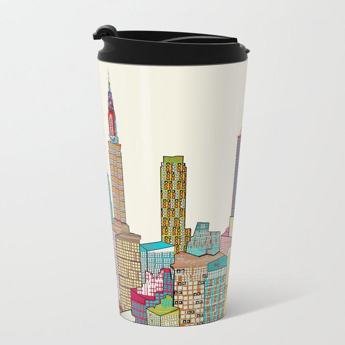 new york modern  Metal Travel Mug