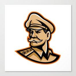 American General Mascot Canvas Print