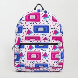 VHS Tapes • White Background Backpack